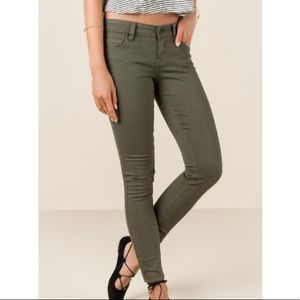 Abercrombie & Fitch Midrise Olive Jeans